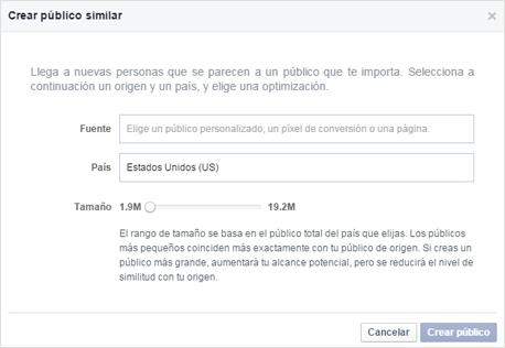 Construyendo una nueva segmentación a partir de los públicos similares en Facebook