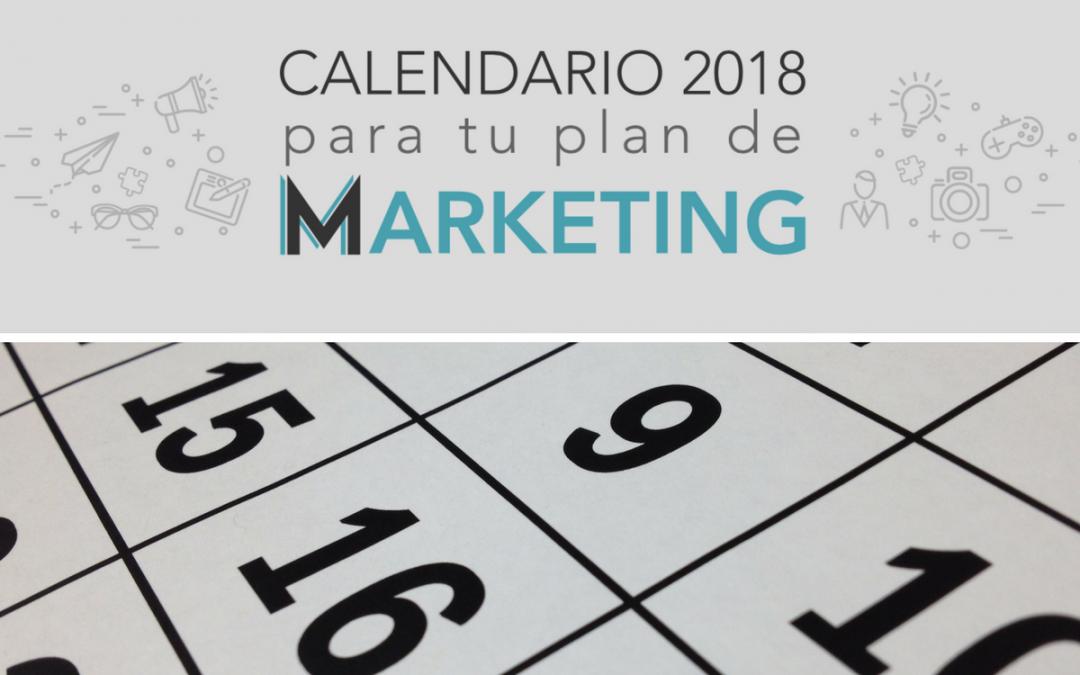 Infografia – Calendario Campañas 2018